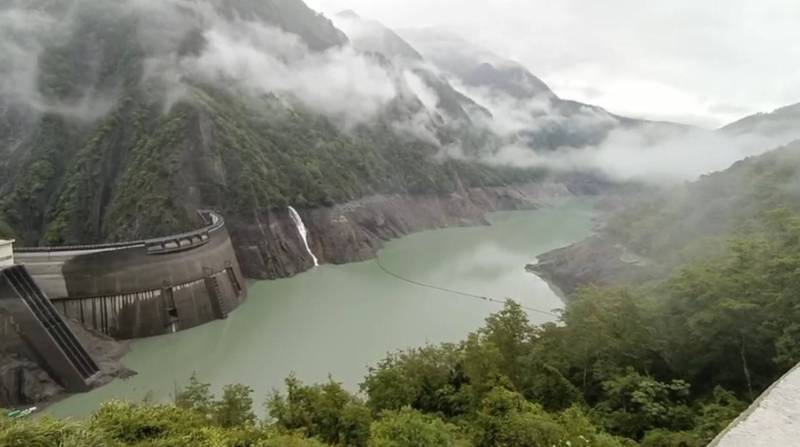 梅雨為德基水庫帶來小幅進帳,水量增加約133萬噸。(記者歐素美翻攝)