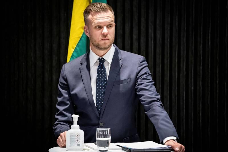 立陶宛將捐贈2萬劑AZ疫苗給台灣,立陶宛外交部長藍斯柏吉斯(圖)則透過推特發文表示「愛好自由的人們應互相照應」。(路透)