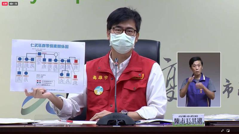高雄市長陳其邁表示,將與專家討論後,26日公布如何預約疫苗殘劑。(翻攝高雄一百臉書)