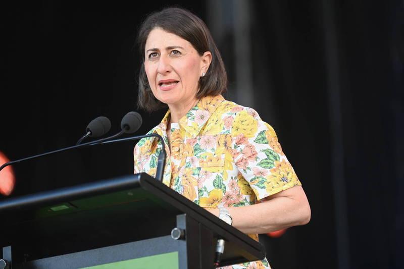 新南威爾斯州州長貝雷吉克利安(見圖)表示,衛生部門建議封鎖為較恰當的措施。(歐新社)