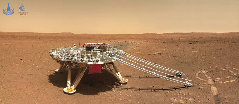 China aims to carry out a human mission to Mars in 2033. The picture shows the Chinese Mars Rover