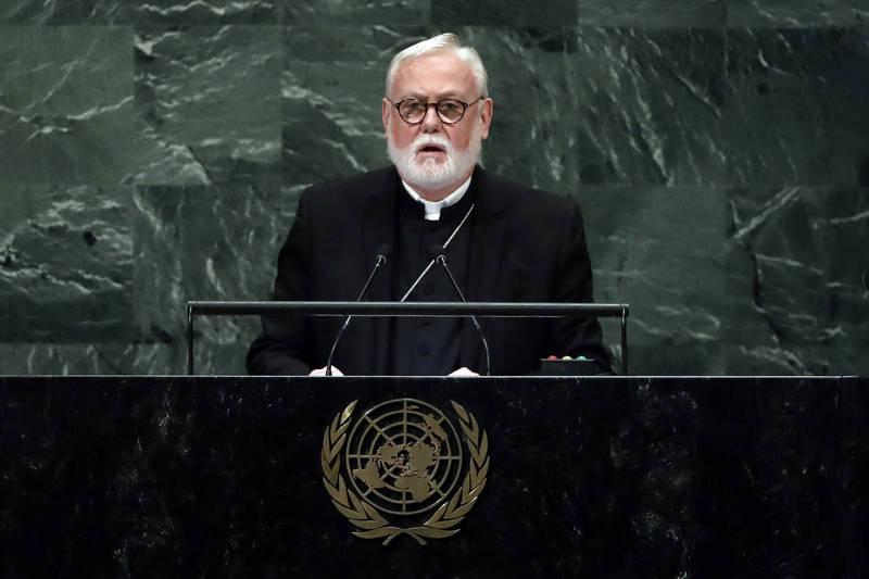 教廷外交部長蓋拉格(Paul Richard Gallagher)。(美聯社)