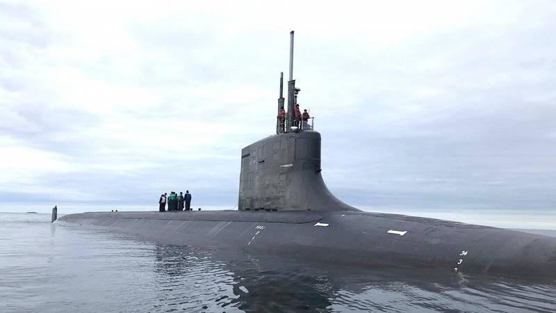 去年8月間在挪威海岸附近現身的海狼號潛艦。(翻攝自美國海軍官網)