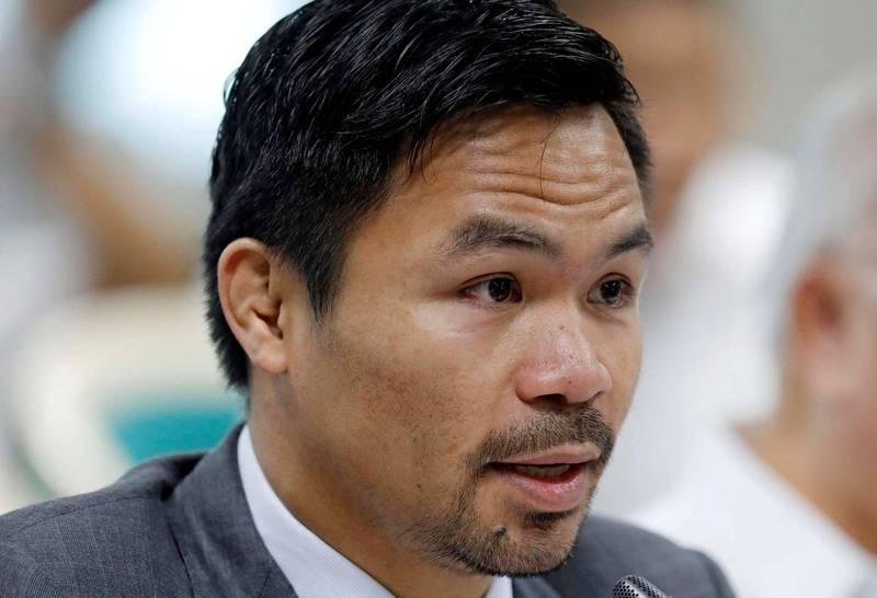 菲國拳王帕奎奧被視為下屆總統熱門人選。(路透)