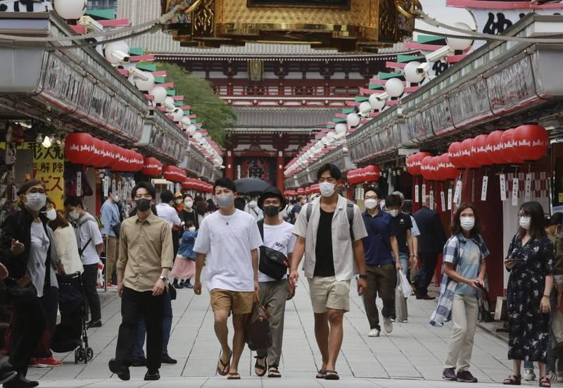 東京昨新增714例確診病例,已經達到代表疫情爆發式擴大的「第四階段」。(美聯社)