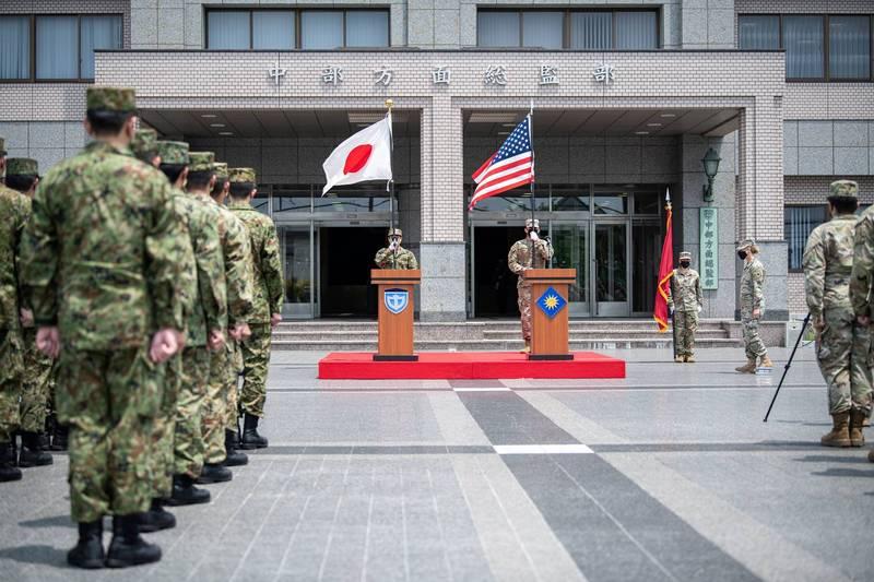 美國及日本於6月24日至7月11日舉行「東方之盾(Orient Shield)」軍事演習。(圖翻攝自Orient Shield軍演官方臉書)