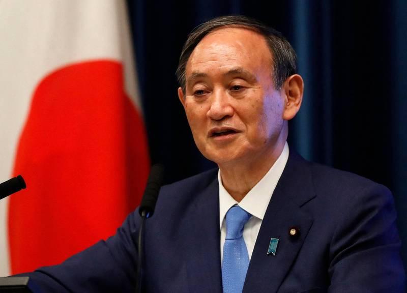 日本和太平洋島國領袖等人今(2日)舉辦「太平洋島國峰會」,圖為日本首相菅義偉。(法新社)