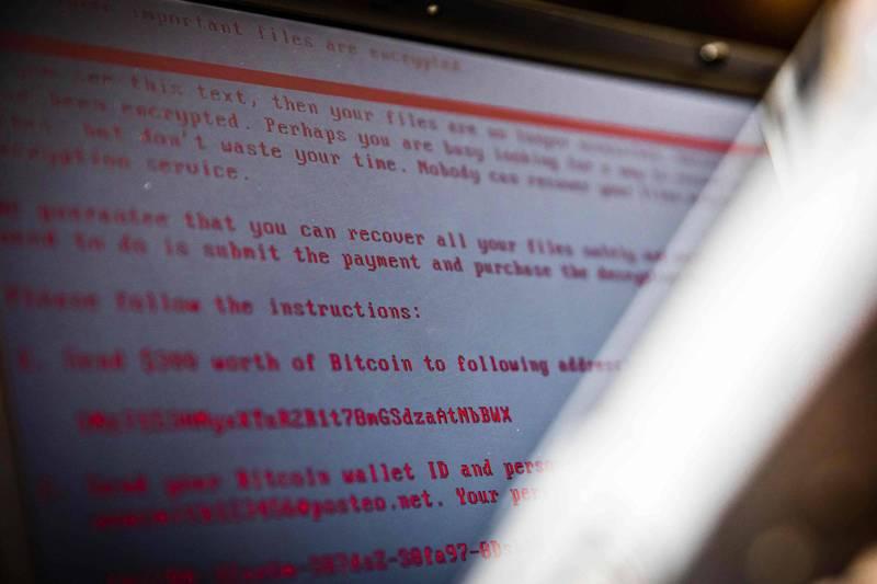 美國企業疑遭俄國勒索病毒駭客大規模攻擊。(法新社)