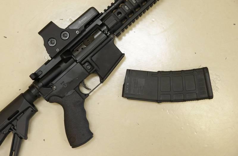 美國南卡州8歲和9歲男童,竟然涉嫌持點22口徑步槍射殺男子。步槍示意圖。(美聯社)