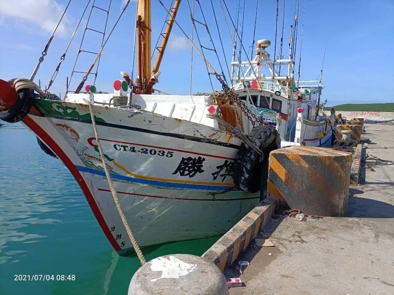 外垵籍勝揮號漁船不知澎湖漁船返港快篩令,在竹灣港過夜人員未下船。(民眾提供)