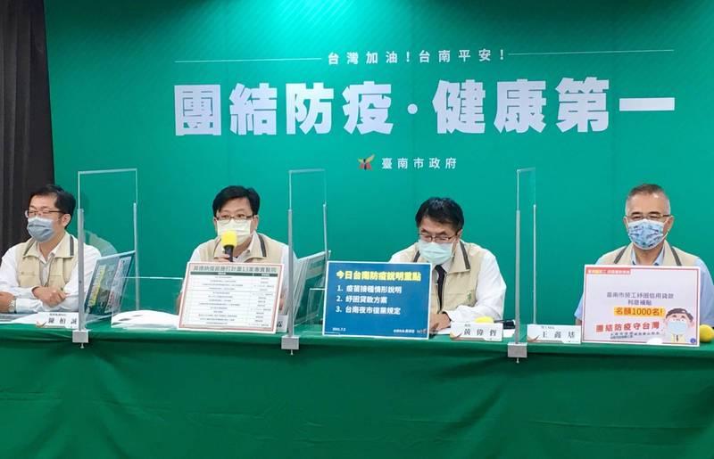 為協助市民度過疫情難關,台南市政府推出紓困加碼名額和利息補貼。(南市衛生局提供)