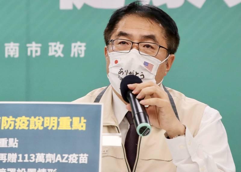 黃偉哲表認為只有台北先好起來,台灣才能整個好起來,希望柯文哲市長認真做好防疫工作,讓台灣早日解封。(南市府提供)