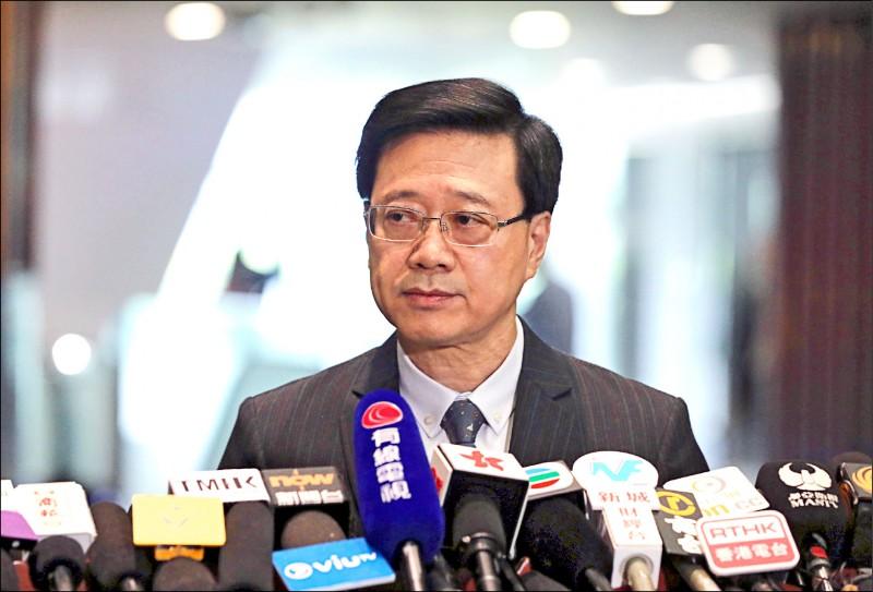 香港政務司司長李家超被選為香港候選人資格審查委員會主席。(路透檔案照)