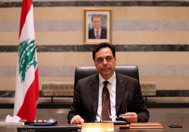 黎巴嫩看守政府總理迪亞布(Hassan Diab)。