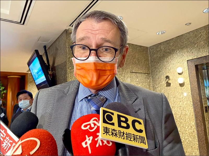 德國駐台代表王子陶表示,台灣購買疫苗的過程遇到阻礙,德政府身為公部門不涉入談判,但也並非袖手旁觀。(資料照)
