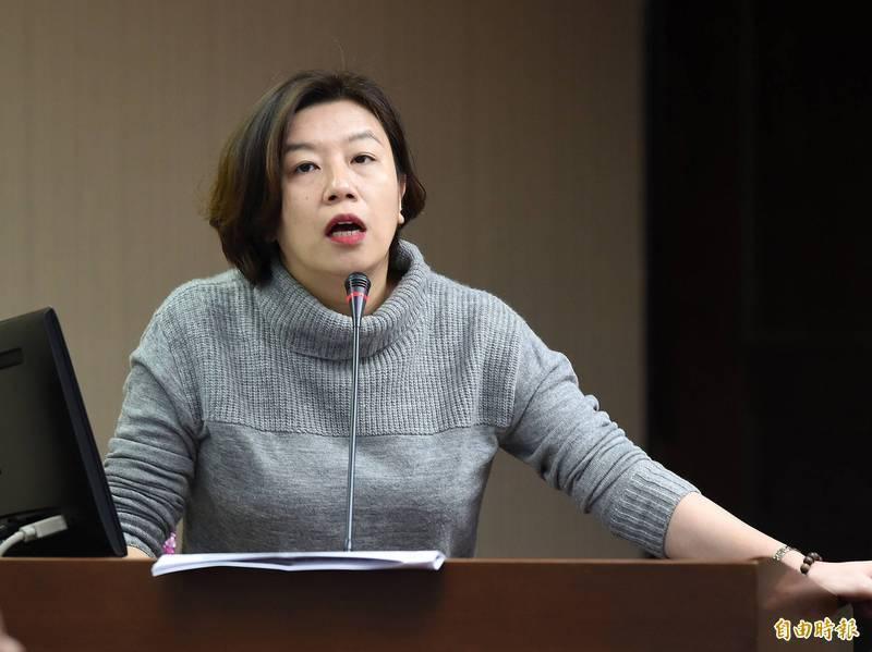 林靜儀(見圖)發文指出,台北市高齡者疫苗接種覆蓋率只有51.29%,排名六都最低,她也諷刺市長柯文哲「台北,就是跟別人不一樣。」(資料照)
