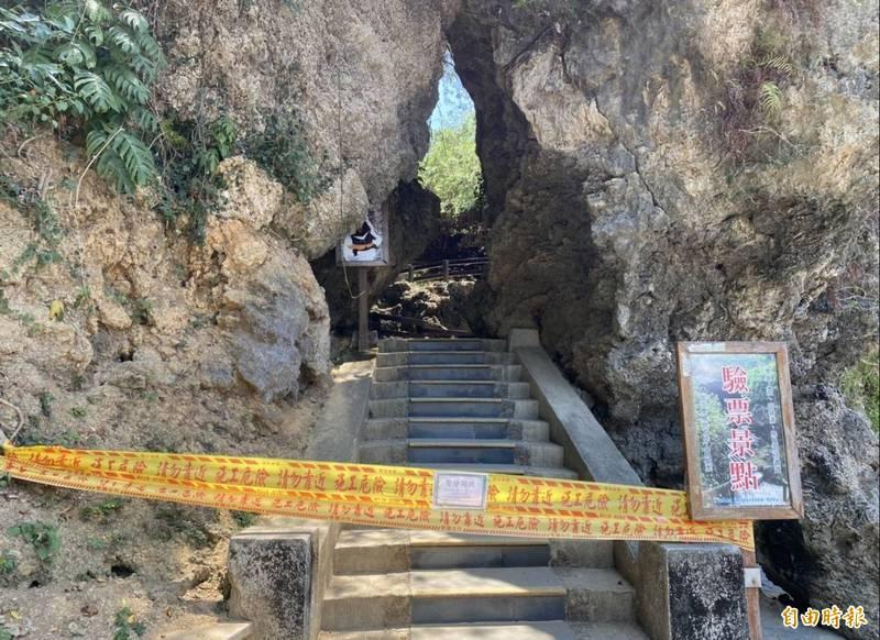 琉球鄉長陳國在也宣布小琉球的風景區不會在微解封中開放。(記者陳彥廷攝)