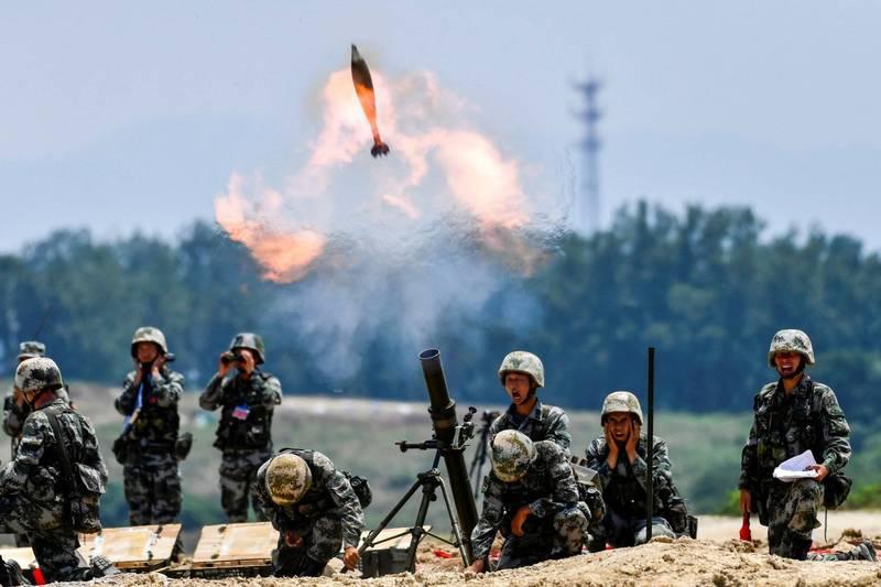 前參謀總長李喜明與美國智庫研究人員,共同撰文直指中共目前對台展開的是灰色地帶侵略和小規模衝突,兩岸短期內不太可能會有全面戰爭。中國解放軍示意圖。(路透)