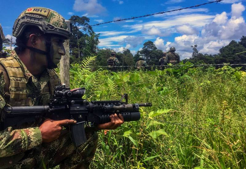 Experts point out that Colombian veterans are a very popular choice in the mercenary industry. The picture shows the soldiers of Colombia.  (AFP)