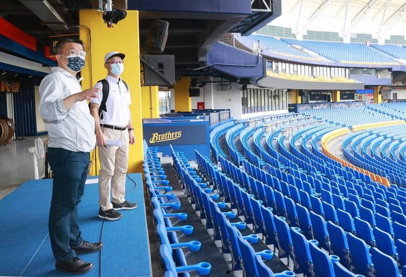 職棒明將「閉門賽」,蔡其昌稱下階段拚25%觀眾入場看球賽。(圖:蔡其昌提供)