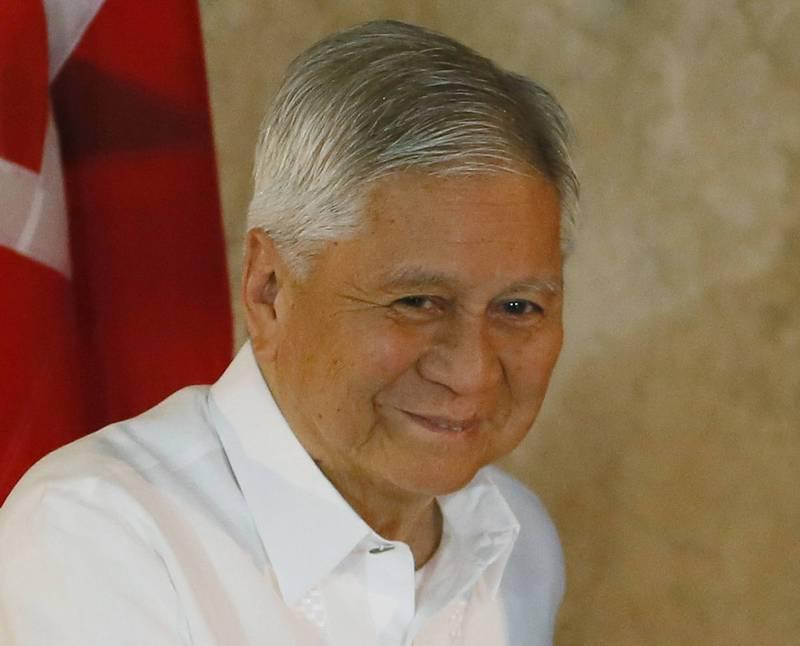 菲律賓前外交部長羅沙里歐(見圖)指控,中國利用其影響力協助現任總統杜特蒂贏得2016年的總統大選。(美聯社)
