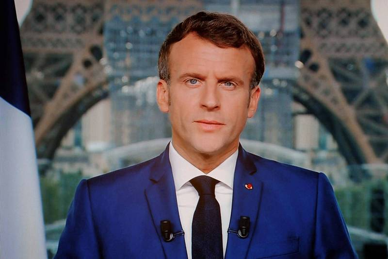 法國總統馬克宏昨晚宣布,8月開始出入公共場所須出示健康通行證;9月開始前線人員必須強制施打疫苗。(法新社)