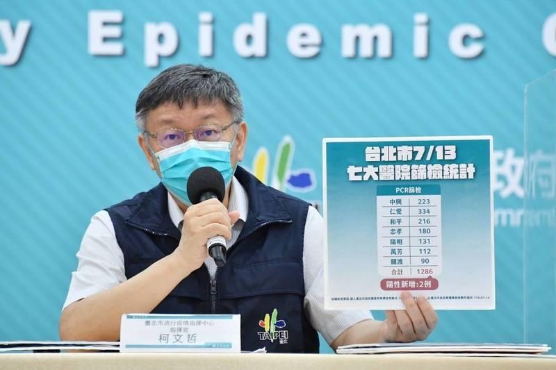 柯文哲說,台灣才2300萬人口,就算所有人全部打疫苗,5000萬劑是一定夠,可是問題是,現在沒有看到5000萬劑啊?(台北市政府提供)