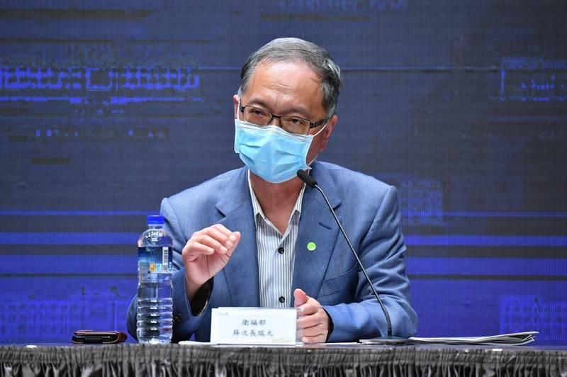 針對三級警戒是否降級,衛福部次長薛瑞元表示,並非不可能。(行政院提供)