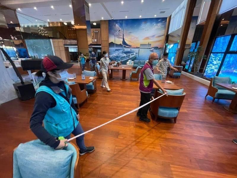 澎湖開放餐飲業內用家數增加,已經6家通過開放。(澎湖縣政府提供)