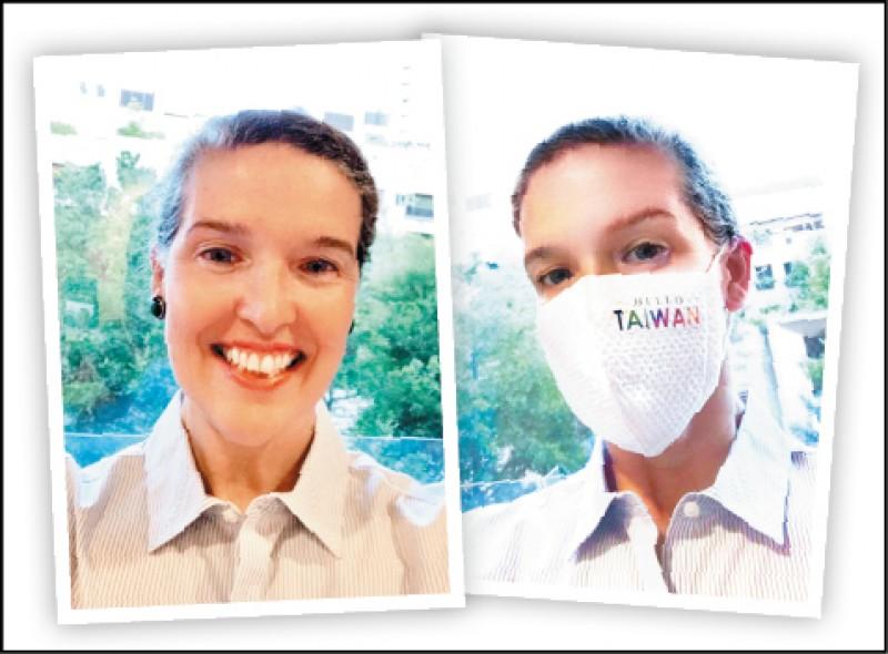 美國在台協會處長孫曉雅昨在臉書貼出自拍照向台灣民眾問好。(取自AIT臉書)