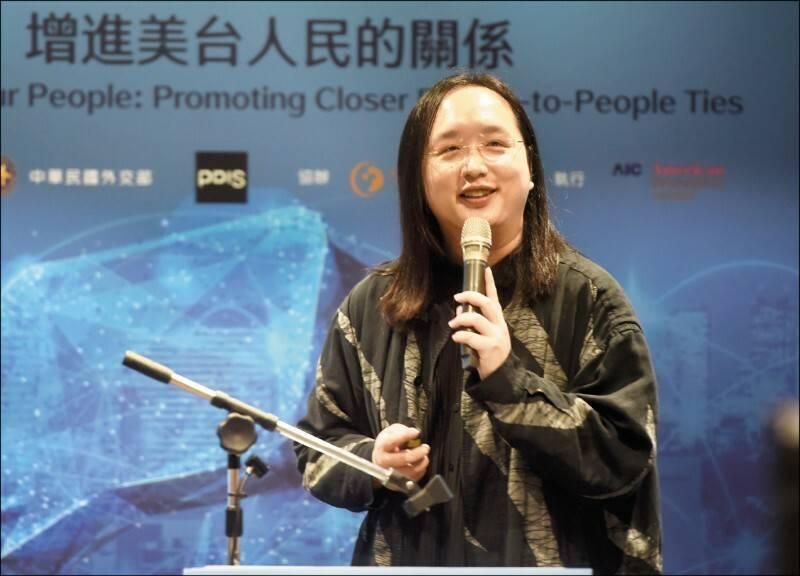 行政院政務委員唐鳳原定代表台灣出席日本東京奧運開幕,但因防疫規範取消行程。(資料照)
