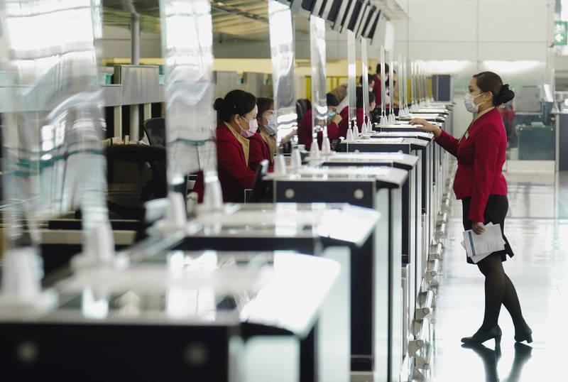 英國政府規定的酌情入境安排「特許入境許可」(LOTR)期限將於本月19日到期,香港機場示意圖。(美聯社)
