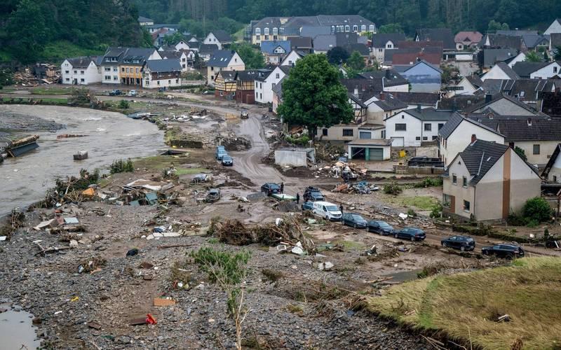西歐洪災造成德國與比利時共170死。(法新社)