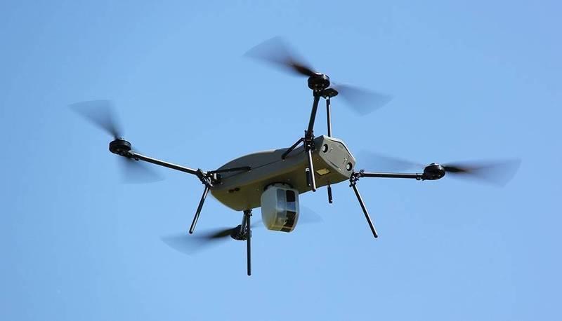 國防部智庫「國防安全研究院」專文指出,無人機漸漸成為戰場威脅,各國也陸續提出反制方案,發展值得注意。圖為以色列「雷神」四旋翼無人機。(翻攝自Elbit Systems官網)