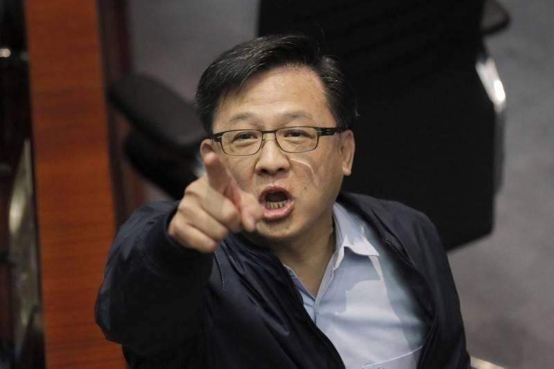 香港建制派議員何君堯。(美聯社)