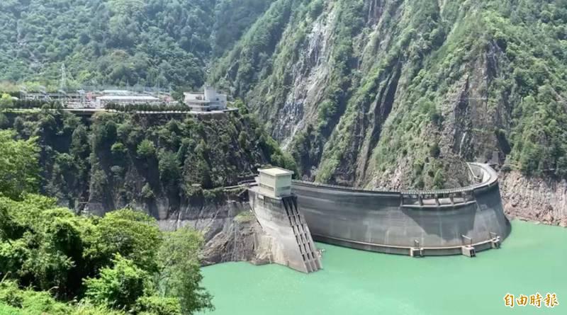 德基水庫再進帳88萬噸。(記者歐素美攝)