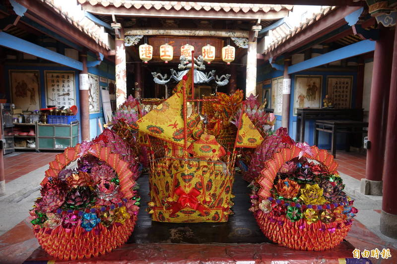 鹿港地藏王廟中元普渡法會將依照中央防疫規定來進行。(記者劉曉欣攝)