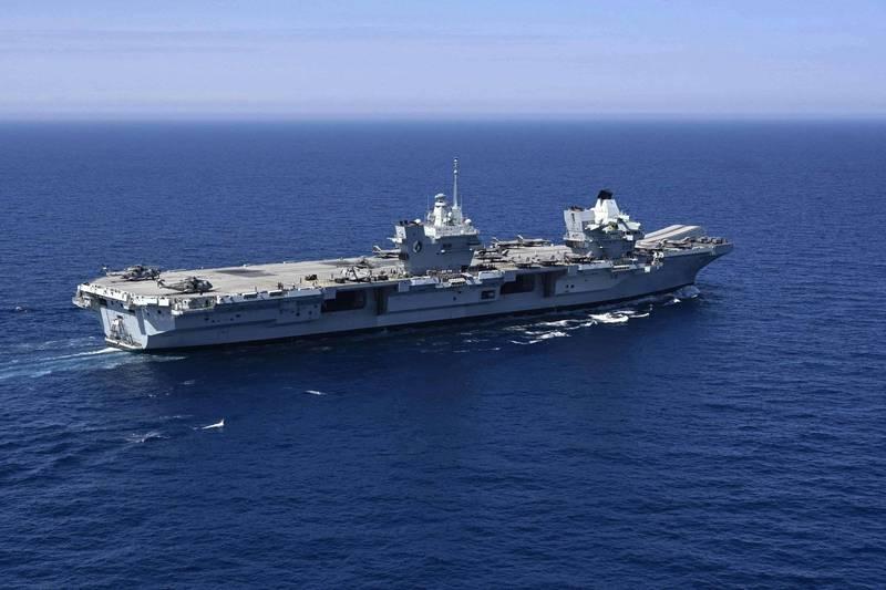 「伊莉莎白女王號」航艦打擊群將於9月抵達日本。(法新社)