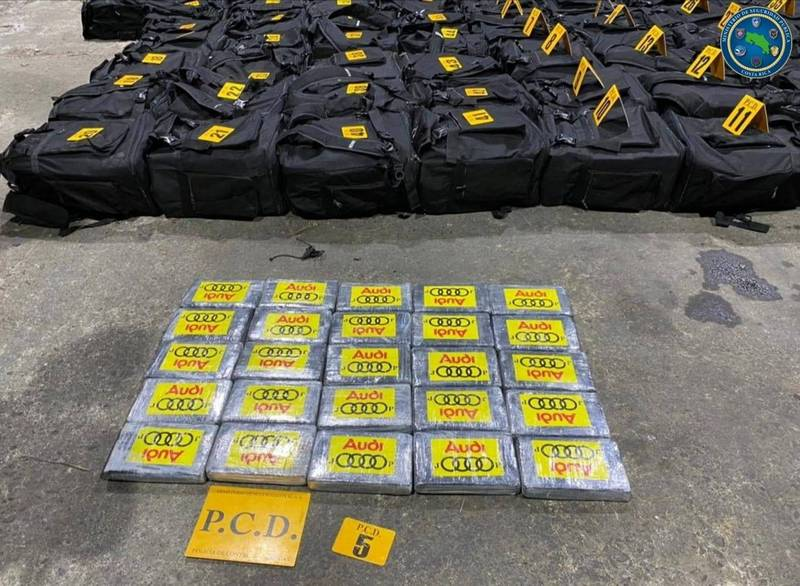 哥斯大黎加破獲重達4.3噸的古柯鹼,這是該國史上第2大宗毒品走私案。(路透)