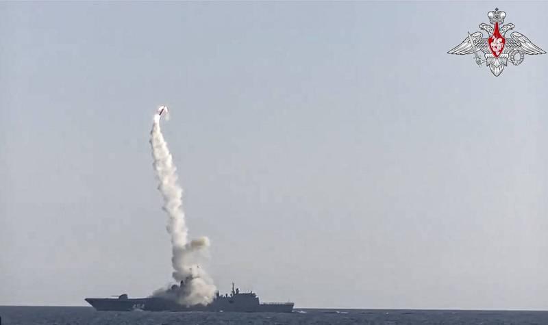 俄羅斯國防部今日釋出畫面,指稱「高希柯夫海軍上將號」(Admiral Gorshkov)巡防艦向巴倫支海(Barents Sea)目標又一次成功試射「鋯石」(Zircon)極音速巡弋飛彈。