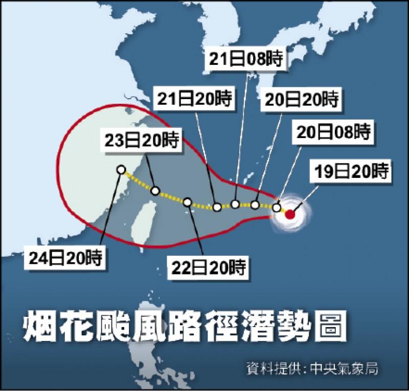 烟花颱風潛勢圖