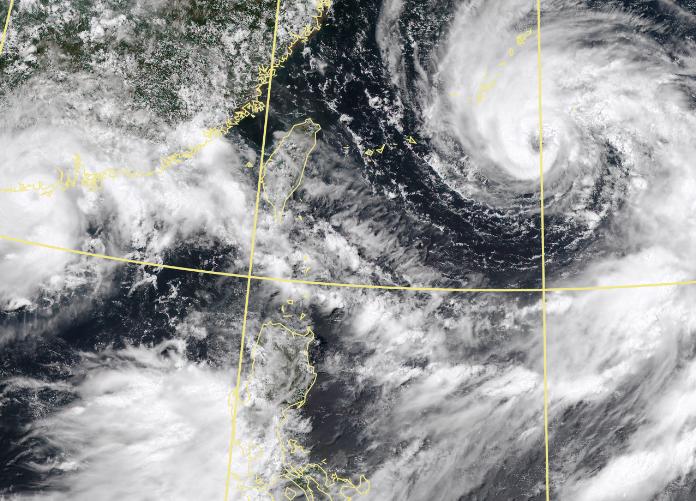 鄭明典上午呼籲,目前應準備進入「颱風防災模式」。(擷取自中央氣象局)