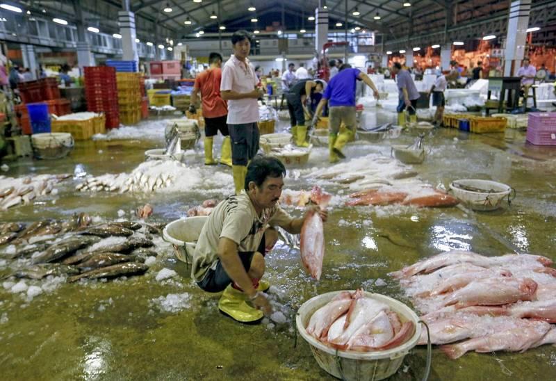 新加坡初步確認今天新增182起本土案例,其中135人與裕廊漁港(見圖)感染群有關。(歐新社資料照)
