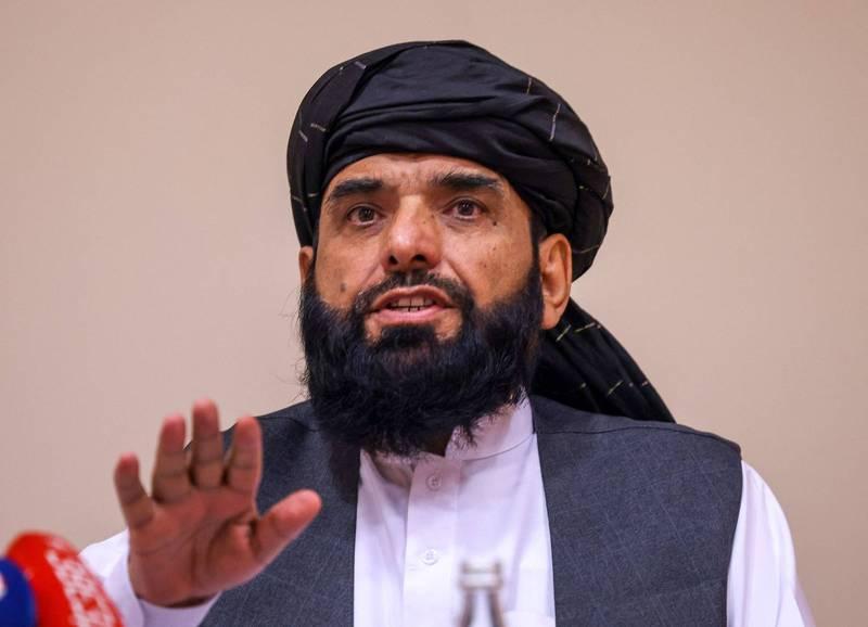 塔利班發言人蘇海爾.沙西恩(見圖)表示,「我們不允許任何人利用阿富汗的土地來對抗任何國家」。(法新社檔案照)