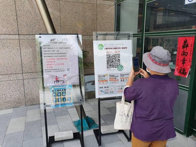 疫情趨穩,中市藝文場館27日設社交距離管理員再微解封。(圖:市府提供)