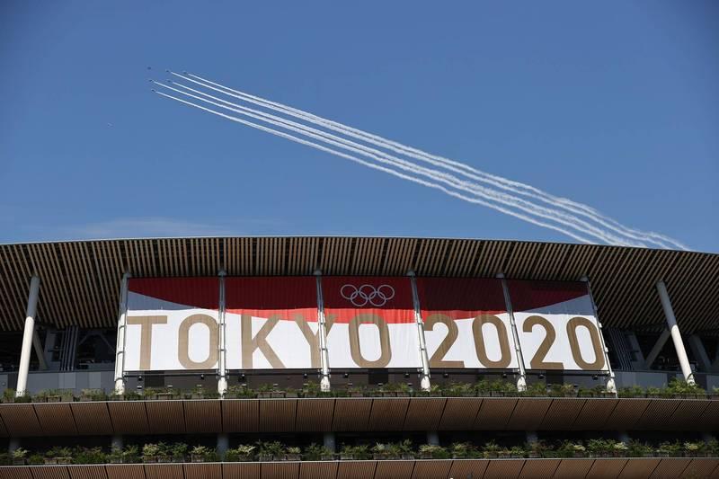 東京奧運將在本月23日正式舉行,但東京都內疫情威脅仍持續。示意圖。(路透)