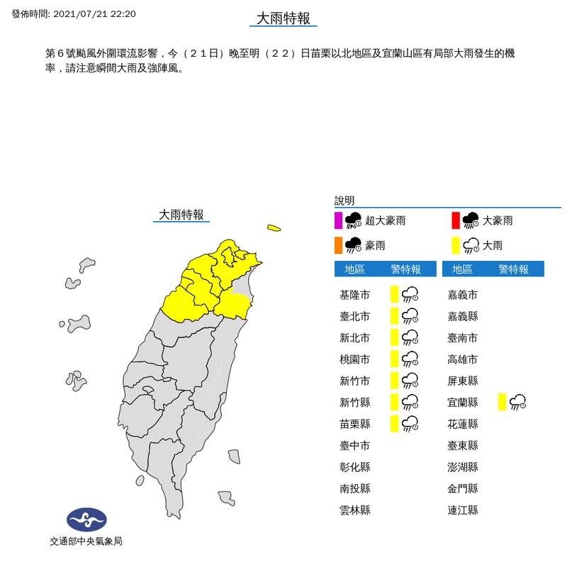 雨彈夜襲雨區擴大! 北台8縣市大雨特報