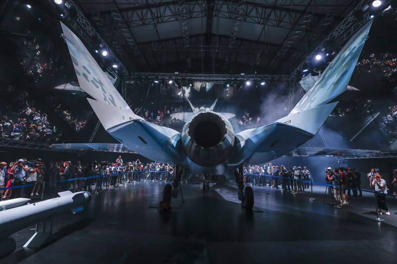 俄罗斯最新五代战机的背视图。(欧新社)(photo:LTN)