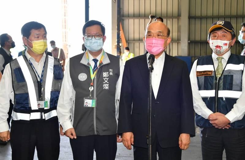 因應烟花颱風來襲,行政院長蘇貞昌今在行政院院會指示相關單位做好防颱準備。(資料照,行政院提供)