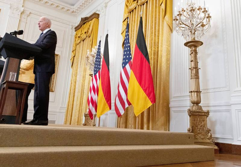 美国与德国就北溪二号天然气管线计画达成协议。(路透)(photo:LTN)